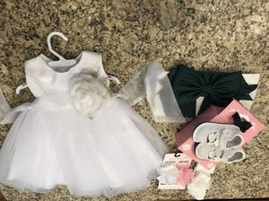 Cinderella Couture Dress by Sammie Hahn for a 12 Month Old To Wear In a Wedding. She Never Got To Wear It so it is brand new. Shoes 5-5 1/2, Socks, for Sale in Murfreesboro, TN