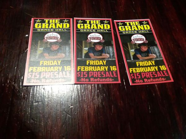 3 Kevin Fowler tickets