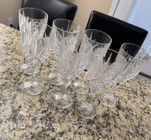 Tall Crystal Wine Glass Set for Sale in Washington, DC