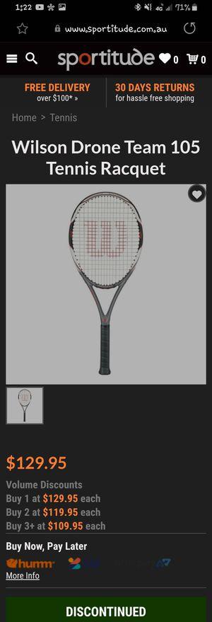 Wilson Tennis racket (drone team 105) for Sale in Thornton, CO