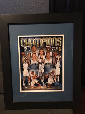Dallas Mavericks Picture Frame for Sale in Fort Worth, TX
