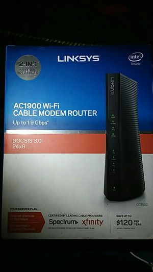 Linksys 2 in 1 Cable Modem Router for Sale in Cleveland, OH