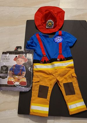 12-24 months first fireman costume brand new for Sale in Winter Haven, FL