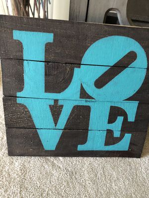 """Wood """"LOVE"""" plaque sign for Sale in Gaithersburg, MD"""