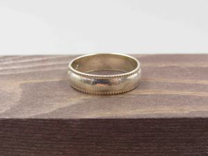 Size 9 Sterling Silver Stylish Plain Band Ring Vintage Statement Engagement Wedding Promise Anniversary Bridal Cocktail Friendship for Sale in Lynnwood, WA