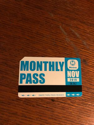 November monthly pass for Sale in St. Louis, MO