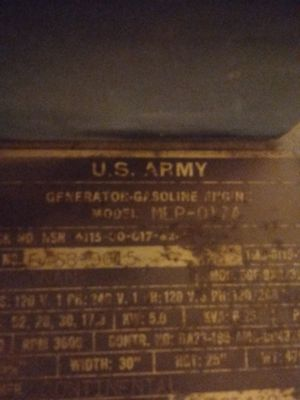 2 hercules army generators for Sale in Montville, ME