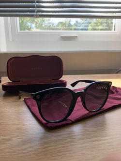 Black Frame Gucci Sunglasses (REAL)-Women for Sale in Framingham,  MA