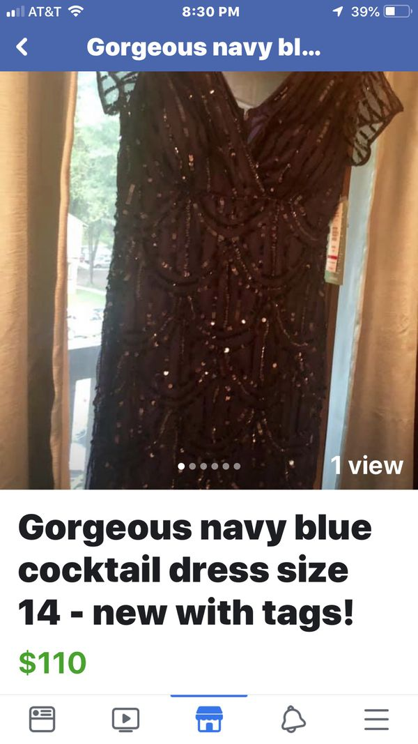 Brand new gorgeous navy blue cocktail dress!