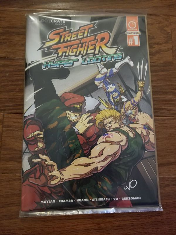 Loot crate exclusive Street Fighter comic