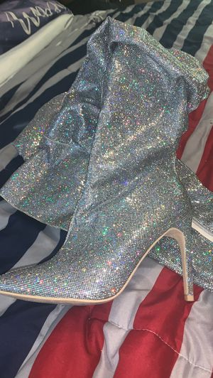 Glittery Thigh High Boots for Sale in Douglasville, GA
