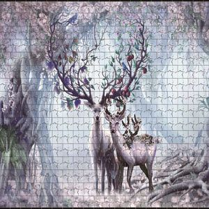 """Jigsaw Puzzles 1000 Pieces Large Wooden Puzzle 29.5"""" x 19.7"""", House of Elks for Sale in Katy, TX"""