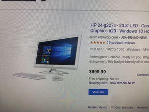 HP ALL IN ONE DESKTOP IN BLACK for Sale in St. Pete Beach, FL