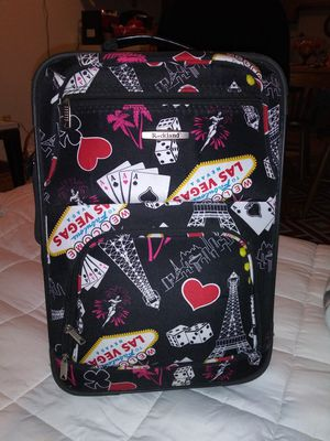 Las Vegas suitcase with handle for Sale in Saint Paul, MN