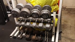 Osagon dumpbell plus key fitness 2 tier rack for Sale in Federal Way, WA