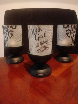 3 count Candle Holders for Sale in Stone Mountain, GA