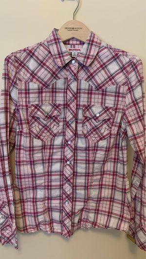 Women true religion plaid shirt size small🤍💜 for Sale in Sacramento, CA