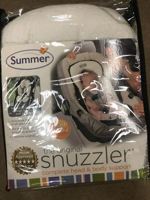 Summer Infant Snuzzler Infant Support for Car Seats and Strollers, Black Velboa for Sale in Anaheim, CA