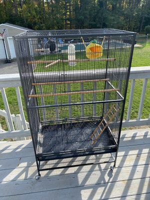 Large Bird Cage on wheels for Sale in Framingham, MA