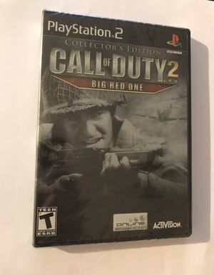 Call of Duty 2 Big Red Collectors Ed. PS2 - NEW for Sale in Cedar Park, TX