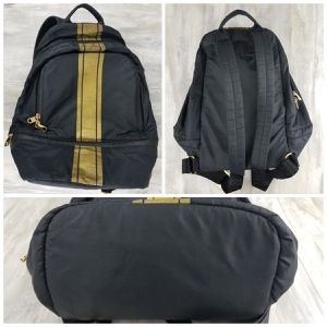 Cynthia Rowley BRODY Nylon Backpack Black Gold Stripe 76060 Back to School for Sale in Avondale, AZ
