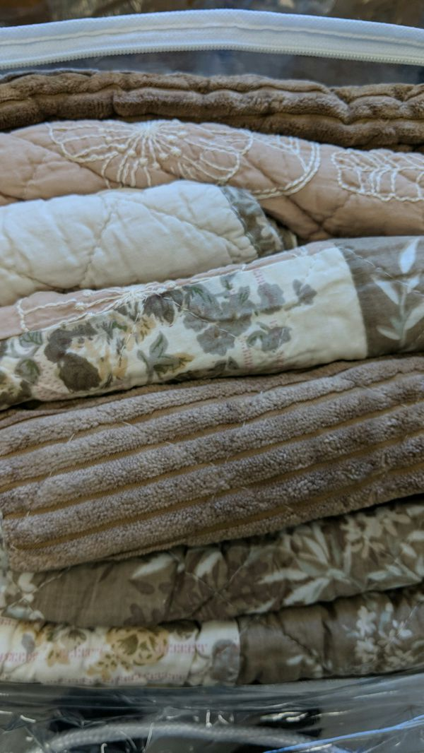 Bohemian Patchwork Dusty Rose Mauve Pink & Brown Floral Quilted Bedspread Set King size 108x100