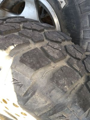 32 11.50 15 and 15 inch black rim 5x5 lug pattern for Sale in S CHESTERFLD, VA