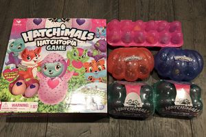 Lots of hatchimals 3 open sets, 2 brand new and 1 brand new game for Sale in Seattle, WA