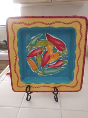 Ceramic decoration plates with holder for Sale in Miami, FL
