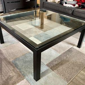 Crate & Barrel Glass Coffee Coffee Table (36x36) for Sale in Arlington, VA
