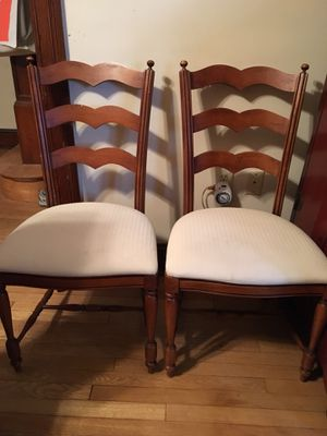 Century Furniture ladderback dining side chairs (set of 4) for Sale in Washington, DC