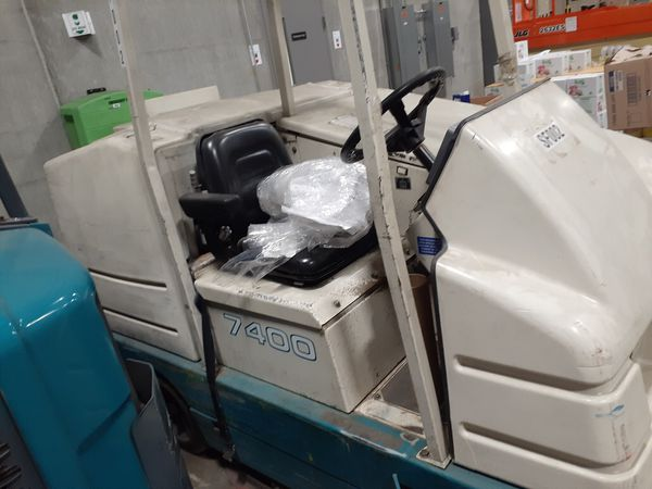 Tenant floor scrubber and sweeper