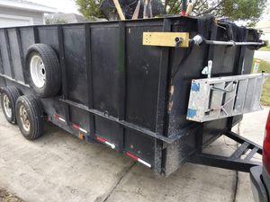 Utility Trailer 7x16 feet trailer, NOT Hydraulic dump. for Sale in Orlando, FL