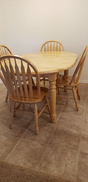 Oak dining table and chairs for Sale in Renton, WA