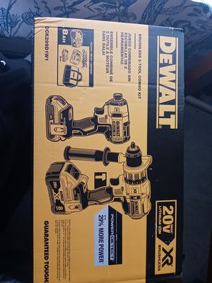 DeWALT 20V max lithium ion XR BRUSHLESS 2-TOOL COMBO KIT for Sale in Seattle, WA