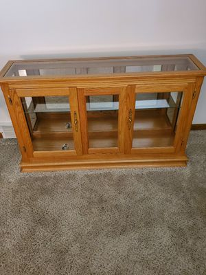 Solid Oak and Glass Shelf Curio Cabinet for Sale in Navarre, OH