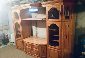 Solid Oak Entertainment Center for Sale in Killingly, CT