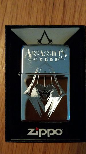 Zippo assassin's creed high polished chrome 29786 for Sale in Los Angeles, CA