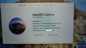 "2016 Macbook Pro 15"" - $1000 for Sale in Long Beach, CA"