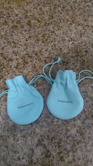 Tiffany & Co. drawstring pouches in new condition for Sale in Santa Ana, CA