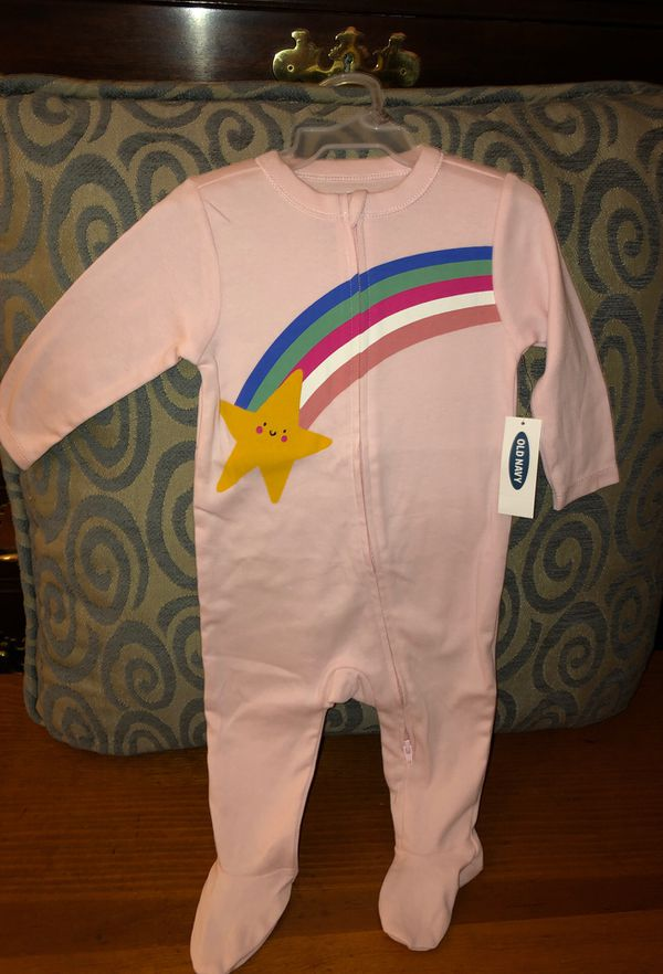 Brand NEW!!! Old Navy brand sleepers for baby girl 💝 Size 6-9 months