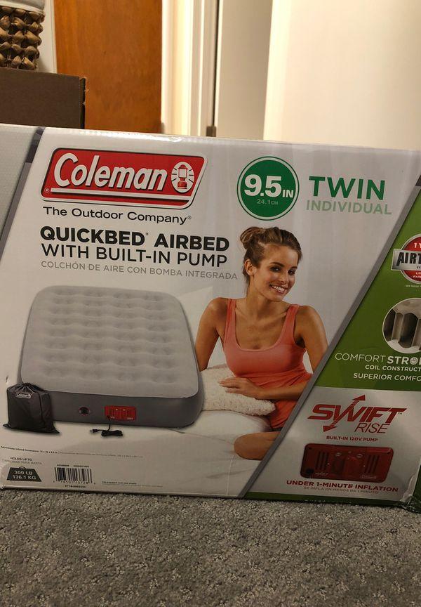 Coleman Brand Twin Air Mattress with Built in Pump