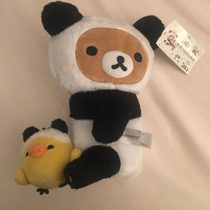 Rilakkuma Bear In panda Suit With duck Friend for Sale in North Tustin, CA