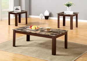 Brand New 3 Piece Faux Marble Coffee Table Set for Sale in Silver Spring, MD