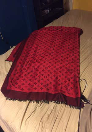 Louis Vuitton red and black reversible scarf for Sale in Portland, OR
