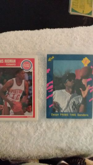 Dennis Rodman & Deon Sanders cards for Sale in Greenville, SC