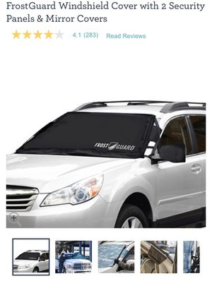 FrostGuard Windshield Cover with 2 Security Panels & Mirror Covers for Sale in Somerville, MA