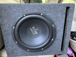 Polk audio 10inch sub in ported box for Sale in Fremont, CA