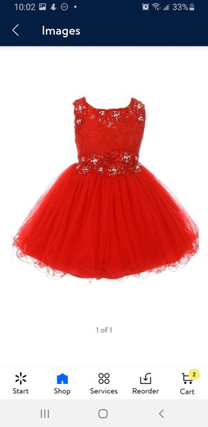 Red party dress girl size 14 for Sale in Phoenix, AZ