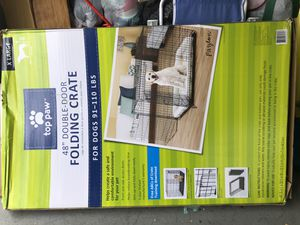 XL dog crate w/ divider for Sale in Boca Raton, FL